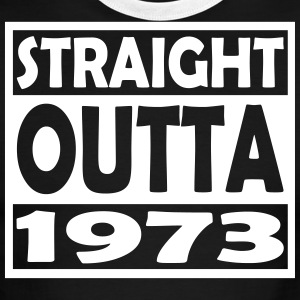 44th Birthday T Shirt Straight Outta 1973 - Men's Ringer T-Shirt