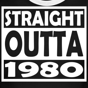 37th Birthday T Shirt Straight Outta 1980 - Men's Ringer T-Shirt