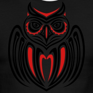 Large owl with wings in Haida Style. - Men's Ringer T-Shirt