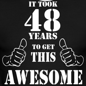 48th Birthday Get Awesome T Shirt Made in 1969 - Men's Ringer T-Shirt