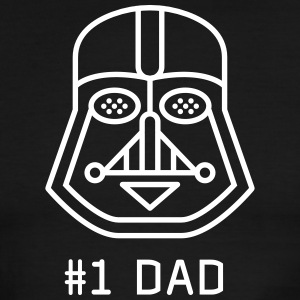 dad Father vader fatherday number One best Great f - Men's Ringer T-Shirt