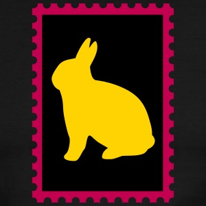 stamp with bunny - Men's Ringer T-Shirt