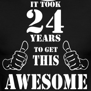 24th Birthday Get Awesome T Shirt Made in 1993 - Men's Ringer T-Shirt
