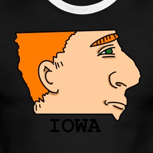 A funny map of Iowa 2 - Men's Ringer T-Shirt