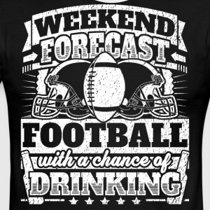 Weekend Forecast Football Drinking Tee - Men's Ringer T-Shirt