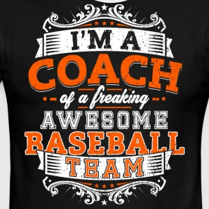 I'm a coach of a freaking awesome baseball team - Men's Ringer T-Shirt