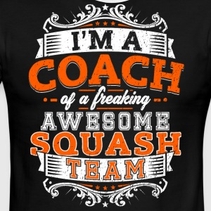 I'm a coach of a freaking awesome squash team - Men's Ringer T-Shirt