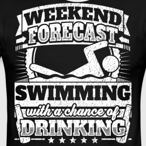 Weekend Forecast Swimming Drinking Tee - Men's Ringer T-Shirt