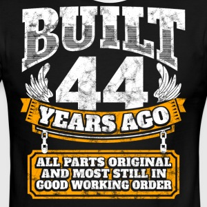 44th birthday gift idea: Built 44 years ago Shirt - Men's Ringer T-Shirt