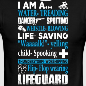 I Am A Lifeguard T Shirt - Men's Ringer T-Shirt