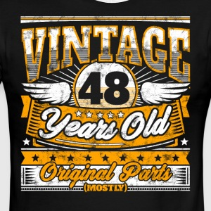 Funny 48th Birthday Shirt: Vintage 48 Years Old - Men's Ringer T-Shirt