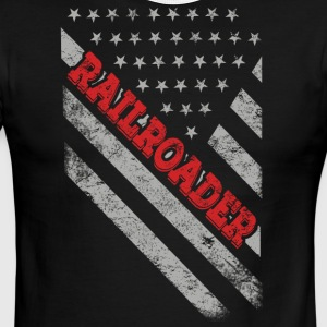 Railroader Flag - Men's Ringer T-Shirt