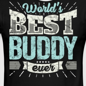 Cool family gift shirt: World's best buddy ever - Men's Ringer T-Shirt