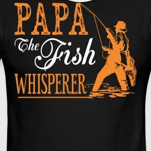Papa The Fish Whisperer T Shirt - Men's Ringer T-Shirt