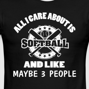 I Care About Is Softball T Shirt - Men's Ringer T-Shirt