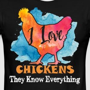 I Love Chicken They Know Everything Shirt - Men's Ringer T-Shirt
