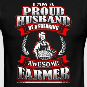 Proud Husband Farmer - Men's Ringer T-Shirt