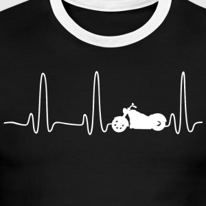 EKG HEARTLINE BIKE white - Men's Ringer T-Shirt