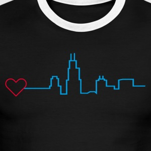 Heart for Chicago - Men's Ringer T-Shirt