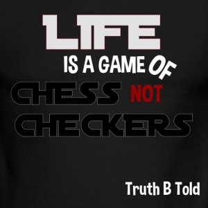 LIFE GAME OF CHESS - Men's Ringer T-Shirt