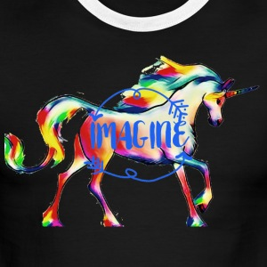 imagine Unicorn - Men's Ringer T-Shirt