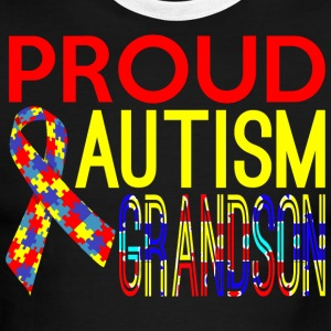 Proud Autism Grandson Awareness - Men's Ringer T-Shirt