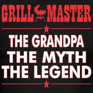 Grillmaster The Grandpa The Myth The Legend - Men's Ringer T-Shirt