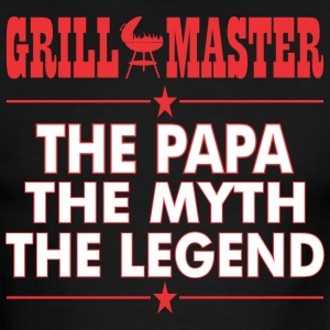 Grillmaster The Papa The Myth The Legend BBQ - Men's Ringer T-Shirt
