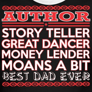 Author Story Teller Dancer Best Dad Ever - Men's Ringer T-Shirt
