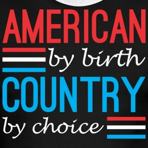 American By Birth Country By Choice - Men's Ringer T-Shirt