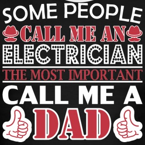 Some People Electrician Most Important Dad - Men's Ringer T-Shirt