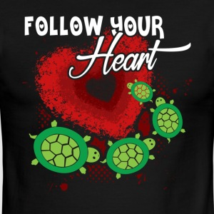 SEA TURTLE HEART SHIRT - Men's Ringer T-Shirt