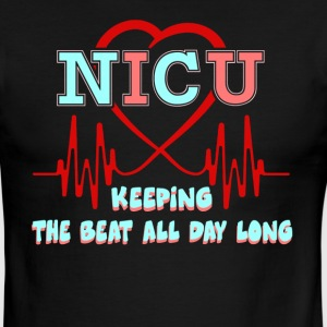 NICU KEEPING THE BEAT FOR DAY SHIRT - Men's Ringer T-Shirt