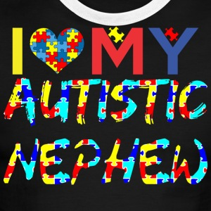 I Love My Autistic Nephew Awareness - Men's Ringer T-Shirt