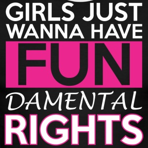 Girls Just Wanna Have Fun Damental Rights - Men's Ringer T-Shirt