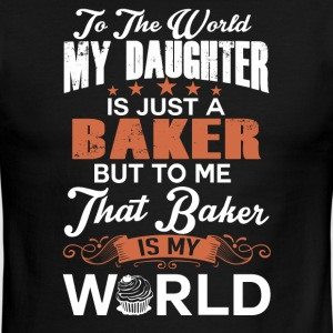To The World My Daughter Is Just A Baker - Men's Ringer T-Shirt