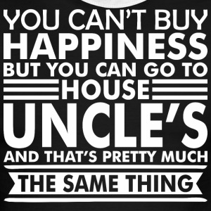 You Cant Buy Happiness But You Can Go Uncles House - Men's Ringer T-Shirt