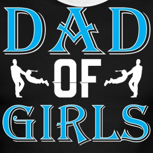 Dad Of Girls Happy Fathers Day - Men's Ringer T-Shirt