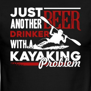 KAYAKING BEER DRINKER SHIRT - Men's Ringer T-Shirt