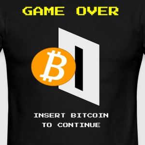 Game Over, Insert Bitcoin - Men's Ringer T-Shirt