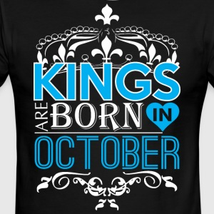 Kings Are Born In October Happy Fathers Day - Men's Ringer T-Shirt