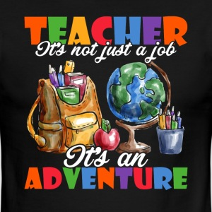 TEACHING IT'S AN ADVENTURE - Men's Ringer T-Shirt