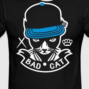 Bad Cat Geddo Cat - Men's Ringer T-Shirt