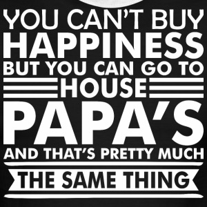 You Cant Buy Happiness But You Can Go Papas House - Men's Ringer T-Shirt