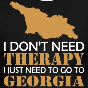 I Dont Need Therapy I Just Want To Go Georgia - Men's Ringer T-Shirt