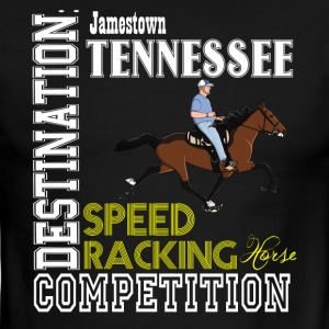 Destination: Jamestown Speed Racking Horse Racing - Men's Ringer T-Shirt