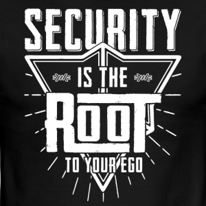 Security is the root to your ego t-shirt - Men's Ringer T-Shirt