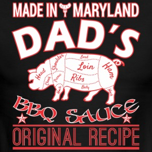 Made In Maryland Dads BBQ Sauce Original Recipe - Men's Ringer T-Shirt