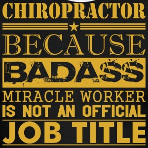 Chiropractor Because Miracle Worker Not Job Title - Men's Ringer T-Shirt