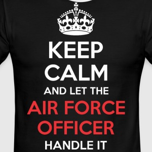 Keep Calm And Let Air Force Officer Handle It - Men's Ringer T-Shirt